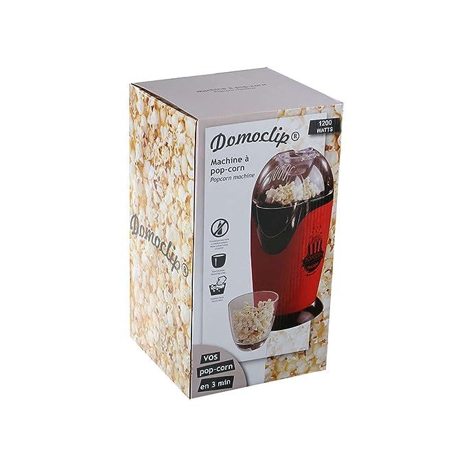 Máquina de palomitas popcorn maker palomitas Automat fuerte 1200 W Tapa Extraíble (sin aceite, con vaso medidor, antideslizante, pies, Cine, 33 x 23 cm, ...