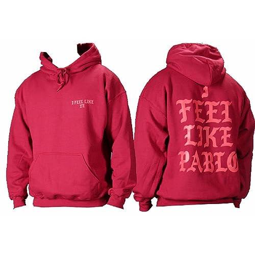 iApparel I Feel Like Ye The Life of Pablo I Feel Like Pablo Red Hoodie