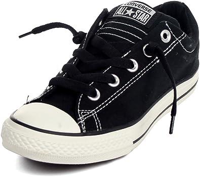converse for kids. converse chuck taylor street low top fashion sneaker shoe - black boys 1 converse for kids