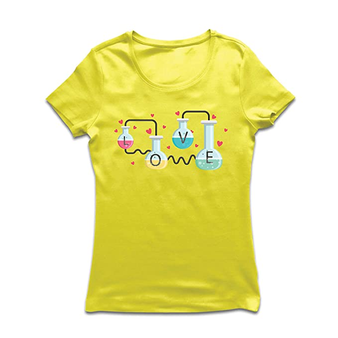 lepni.me Camiseta Mujer La fórmula del Amor, Ciencia, química - Regalo de San: Amazon.es: Ropa y accesorios