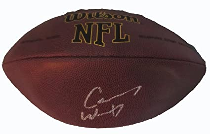 aa4b63361 Carson Wentz Autographed Wilson NFL Football W PROOF