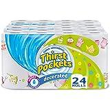 Bolsillos Thirst Decorado Toallas de cocina rollos–Pack de 3, total 24