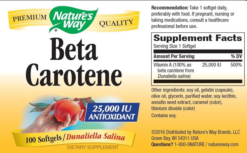 Beta Carotene - 25,000 IU 100 soft gel ( Multi-Pack)