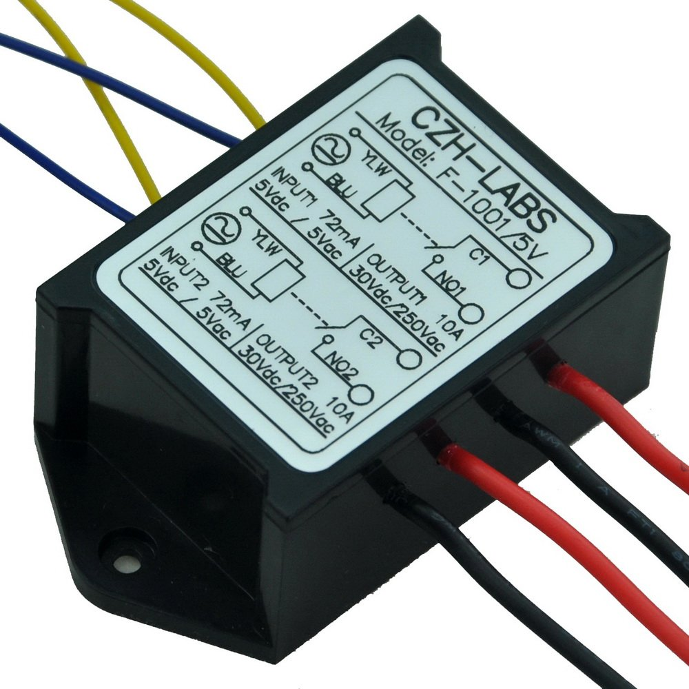 Amazon.com: Electronics-Salon 1PCS Dual SPST-NO 10Amp Power Relay ...