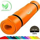 MOVIT Tapis de gymnastique mat de yoga sans phtalate fitness Pilates / Sport / Gym SGS / sol testé, en 2 tailles 190cm x 100cm ou 190cm x 60cm, très épais Épaisseur: 1,5cm en 12 couleurs Rembourré