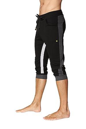 ffddc4ec7a3dc 4-rth Men's Ultra-Flex Tri-Color Cuffed Yoga Pant at Amazon Men's ...
