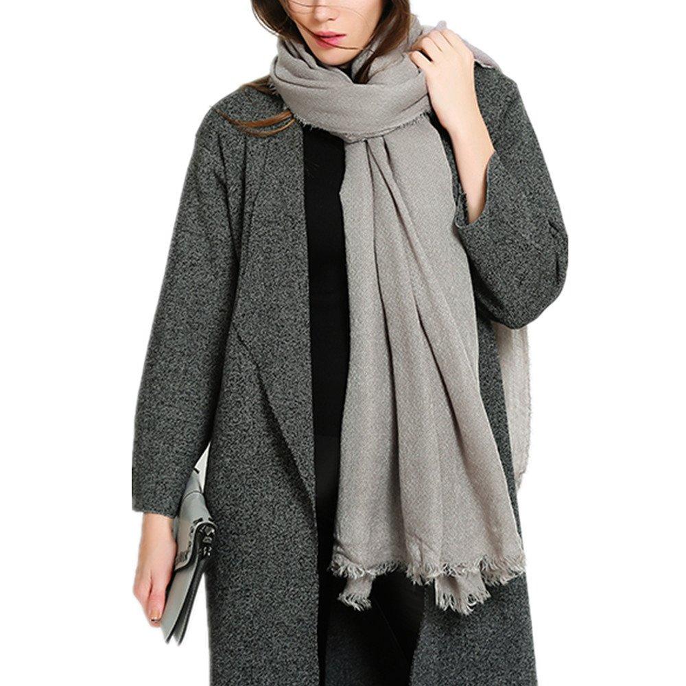 RACHAPE Women Winter Blanket Scarf Black Soft Large Wrap Shawl A943