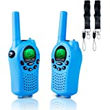 AVALID Walkie Talkies for kids, 22 Channel FRS/GMRS Long Range 5KM Two-Way Radios with Free Straps, Ultra-Long Standby/Back-lit LCD Screen Radio Walkie for Indoor/Outdoor Activities ( Pair,blue )