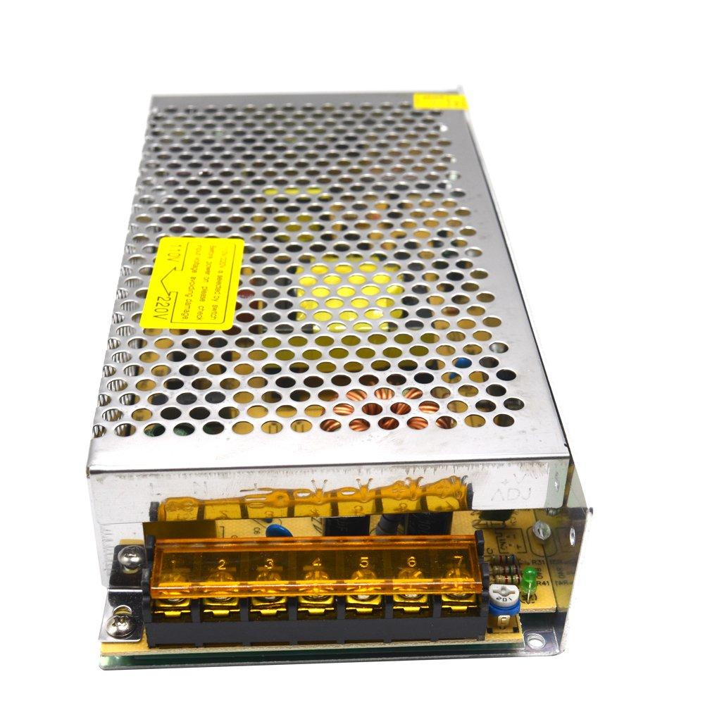 Padarsey 110/220V to DC12V 10A 120W Switch Power Supply Driver Power Transformer for CCTV camera Security System LED Strip Light(12V 10A)