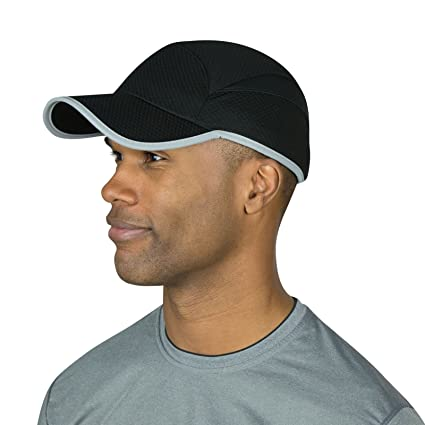 87ba8d12077 Amazon.com   TrailHeads Flashback 360 Reflective Run Cap - Black ...