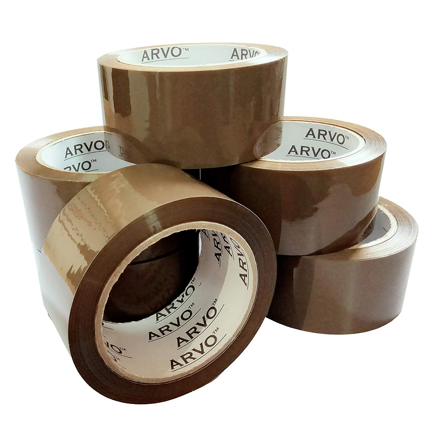Packing Tape, Shipping, Moving Supplies, Packing Supplies, Packaging Tape, Brown Packing Tape , Heavy Duty Packing Tape , Box Tap - 6 Roll Pack (48mm x 66 Meter)