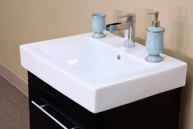 Bellaterra Home 203102-S 24.25-Inch Single Wall Mount Style Sink ...