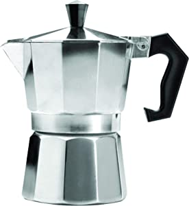 Primula Aluminum Espresso Maker - Aluminum - For Bold, Full Body Espresso – Easy to Use – Makes 3 Cups