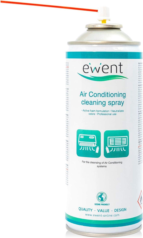 Ewent EW5619 - Spray de limpieza de aire acondicionado 400ml - Spray de limpieza para la limpieza de sistemas de aire acondicionado.