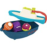 B. toys – Off The Hook – Bath & Beach Toy Boat with Squirting Toys & Hidden Storage Compartment