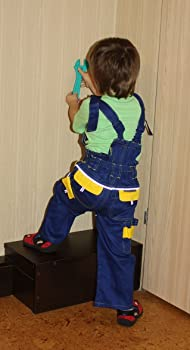 outlet for sale fashion style of 2019 size 7 Kids Bib and Brace,dungarees children's work Trousers Children Suit  Overalls Bob the Builder