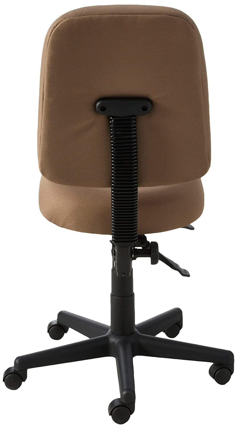OFM Posture Series Armless Mid Back Task Chair – Stain Resistant Fabric Swivel Chair, Taupe 118-2