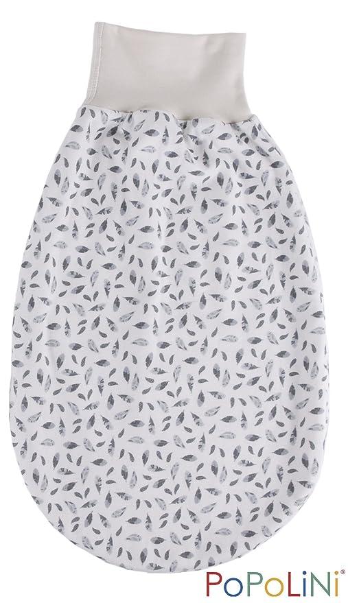 Popolini – Saco para bebé (algodón ecológico, 0 – 6 meses Dove plumas