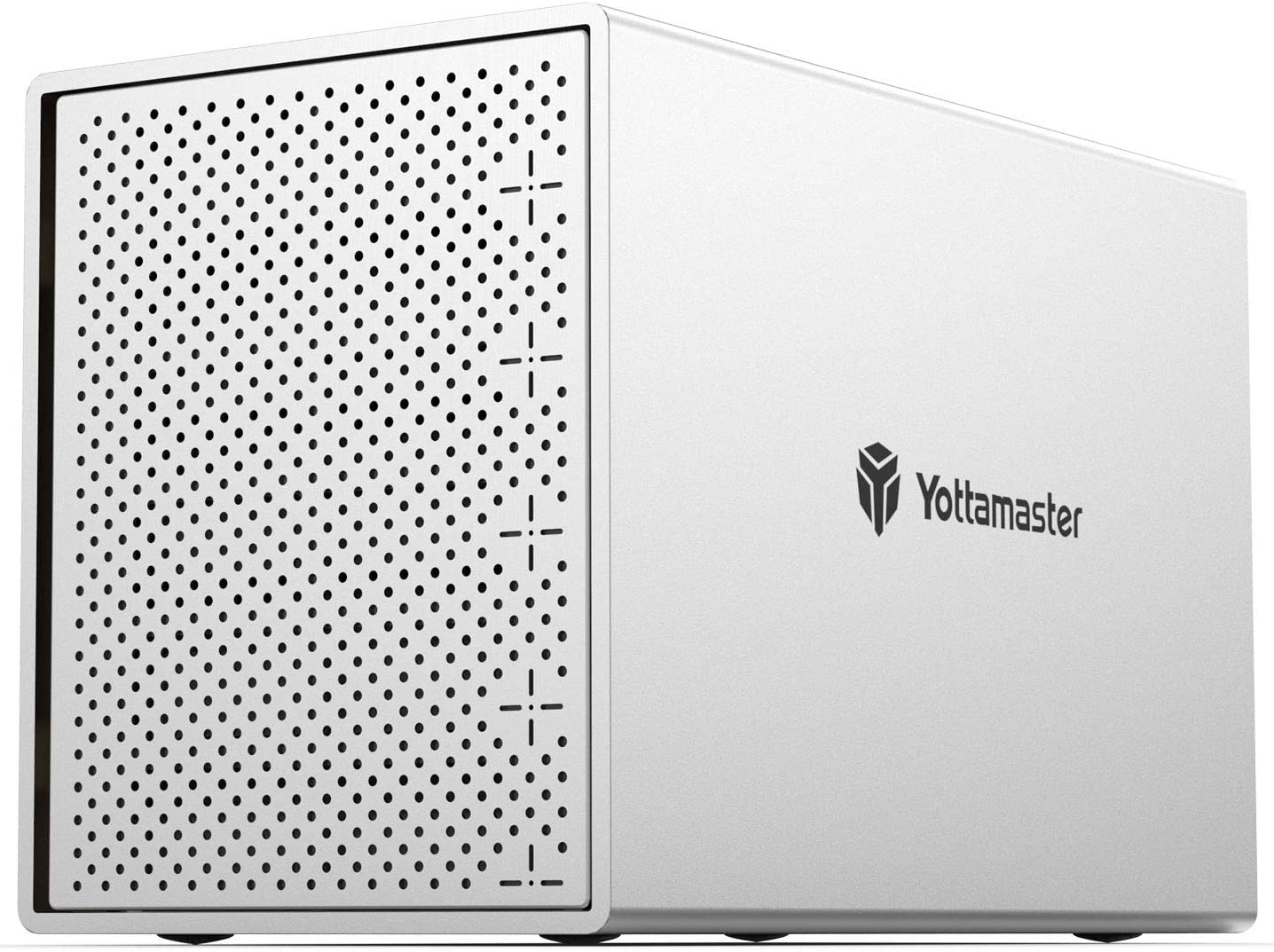 Yottamaster Aluminum Alloy 5 Bay 2.5/3.5 inch USB3.1 Type C External Hard Drive Enclosure SATAIII Support 5 x 16TB & UASP,Mac Style Designed for Personal Storage at Home&Office- [PS500C3]