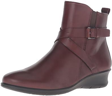 ECCO Women's Women's Felicia Ankle Buckle Boot, Mink, 35 EU/4-4.5