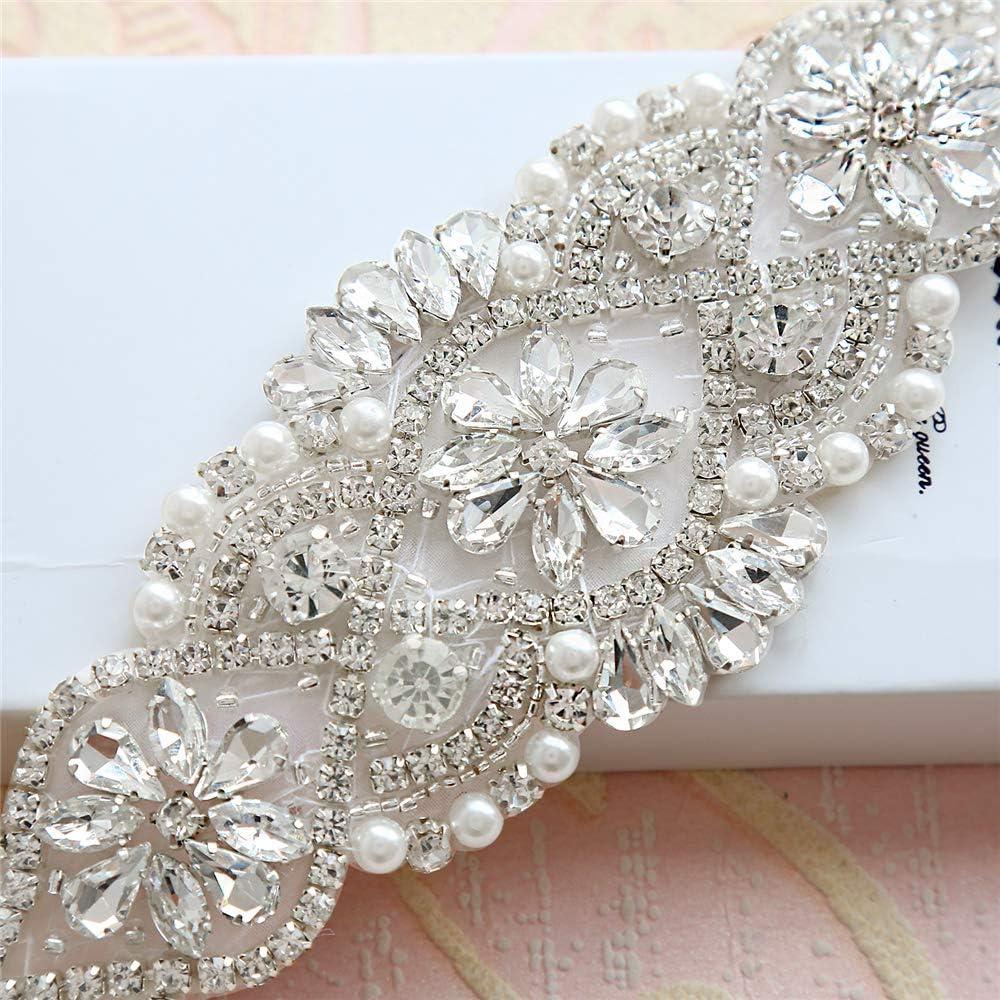 Rhinestone Crystal Belt Wedding Sashes and Bridal Sashes Belt for Wedding Dress Accessories Bridal Headdress Wedding Garters Bridalmaid Decoration