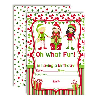 amazon com elf girl themed holiday christmas birthday party
