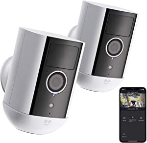 Geeni Freebird 1080p Indoor/Outdoor Security Camera, WiFi Surveillance with Night Vision and Motion Detection, Works with Alexa and Google Assistant (2 Pack)