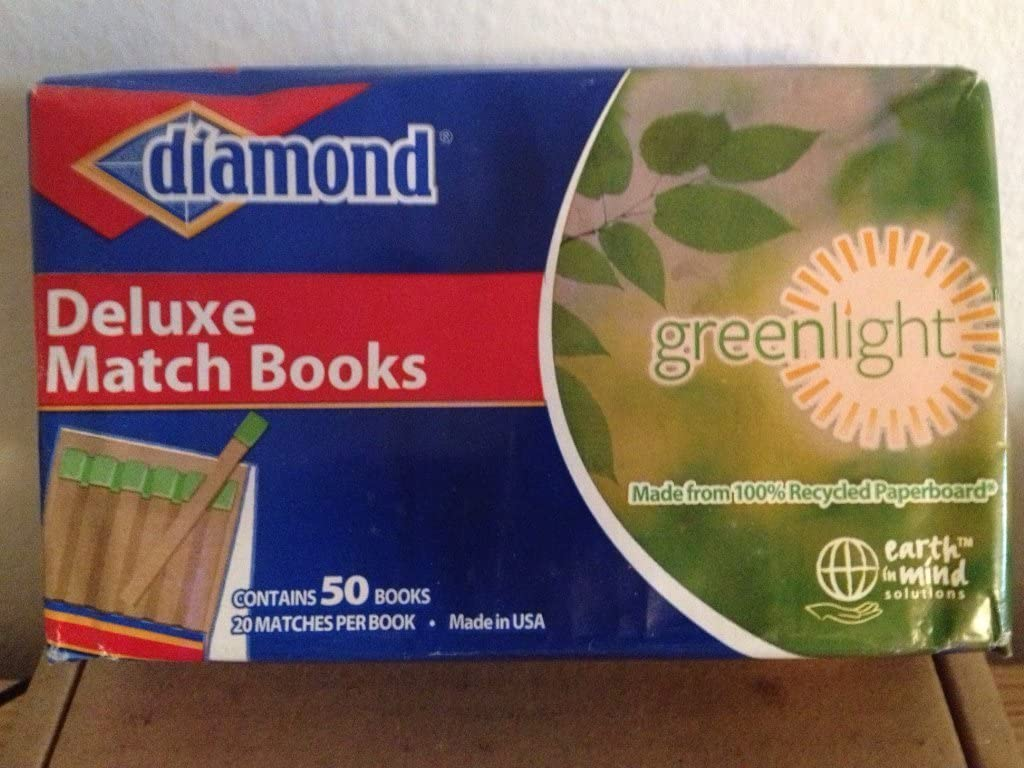 50 books of 20 matches Deluxe Match Book.Candles fireplace DIAMOND 1000