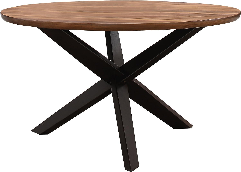 "Homelegance 5597-53 Nelina 53"" Round Dining Table, Walnut Espresso"