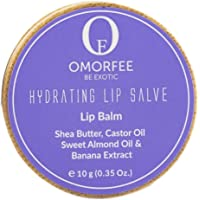 OMORFEE Organic Hydrating Lip Balm Salve Enriched with Banana, Shea Butter, Sweet Almond and Castor Oil, 10 g/0.35 Oz