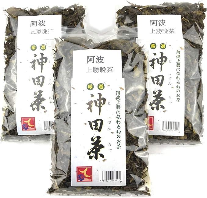神田茶 高級 阿波晩茶 3袋 本場 上勝 阿波番茶 秀逸品 乳酸菌 発酵茶 1袋 60g × 3