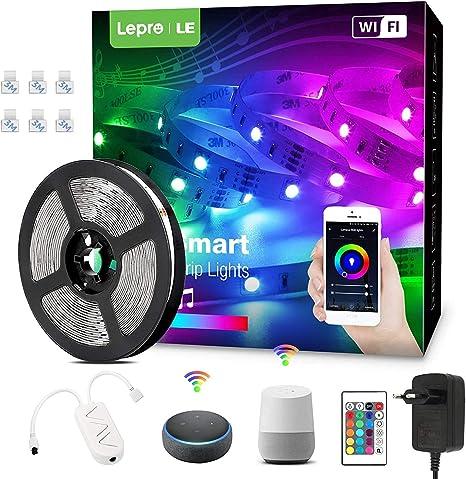 Smart wifi Lichterkette LED 5050 RGB Leiste Streifen Band Garten für Google Home