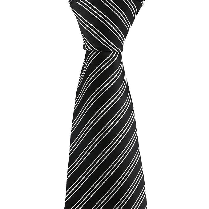 Segbeauty® 57 Extra Largo Corbata Negro y Blanco Lazo Rayado ...