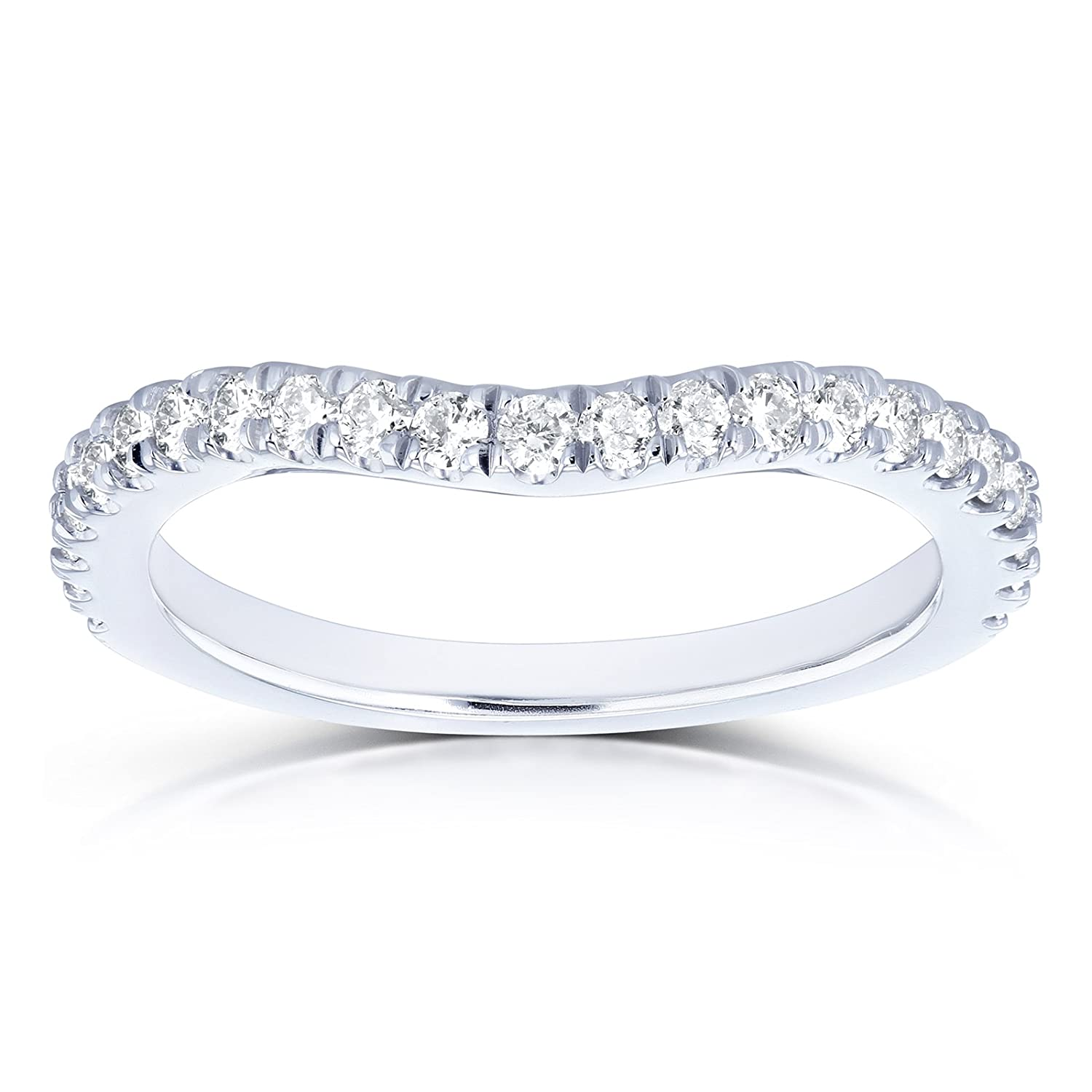 Amazon Diamond Curved Wedding Band 13 Ctw In 14k White Gold Jewelry: White Gold Diamond Curved Wedding Bands At Reisefeber.org