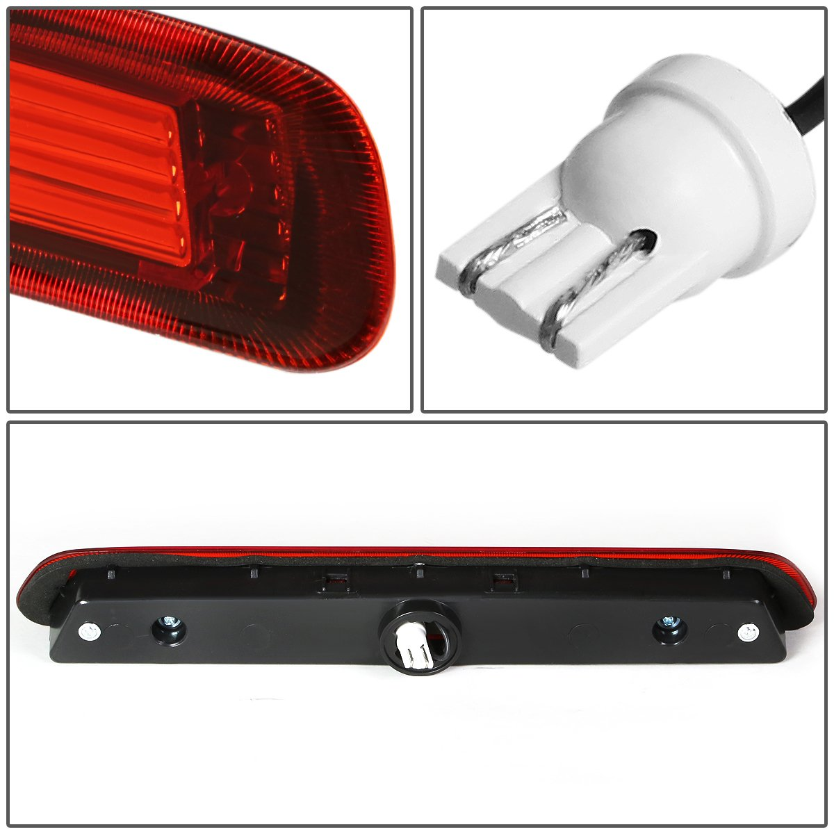 Amazon.com: Toyota 4Runner N210 Rear High Mount LED 3rd Brake Light (Red  Lens): Automotive