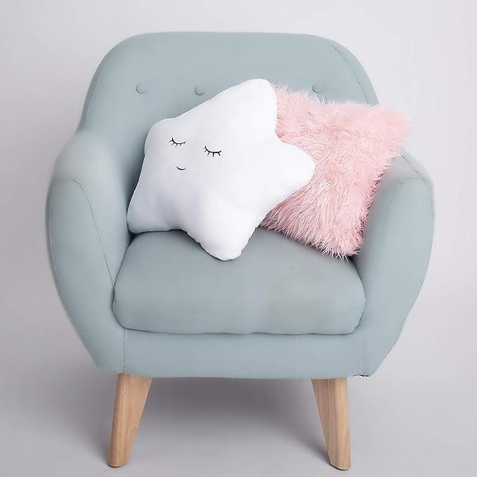 Baby Girl Nursery Decor Baby Girl Room Decor Oilo Fluffy Pillow Pink Throw Pillows Cute Pillows Girls Room Decorations Kids Pillow Baby Decorations for Room Blush Star Pillow