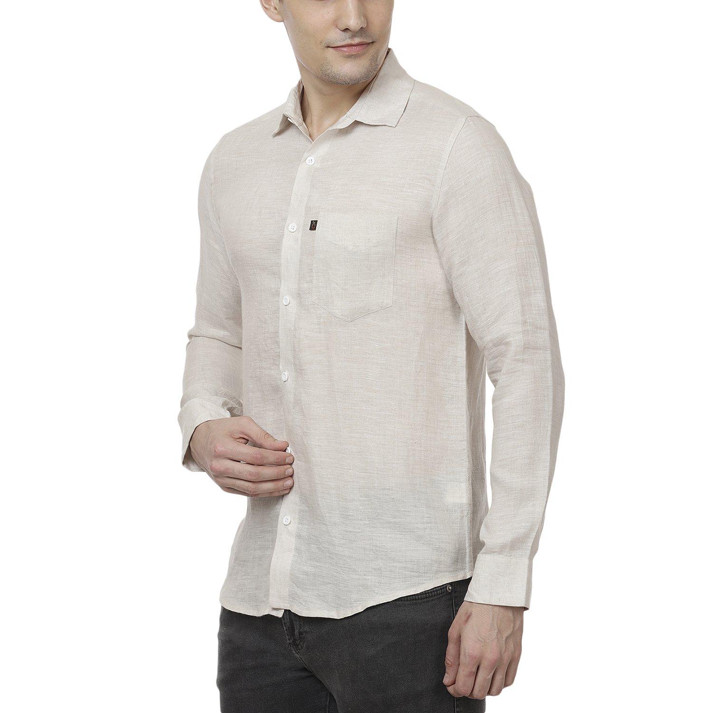 4aad6f1826 Black Orange Pure Linen Beautiful Colored Men's Shirt (Light Beige):  Amazon.in: Clothing & Accessories