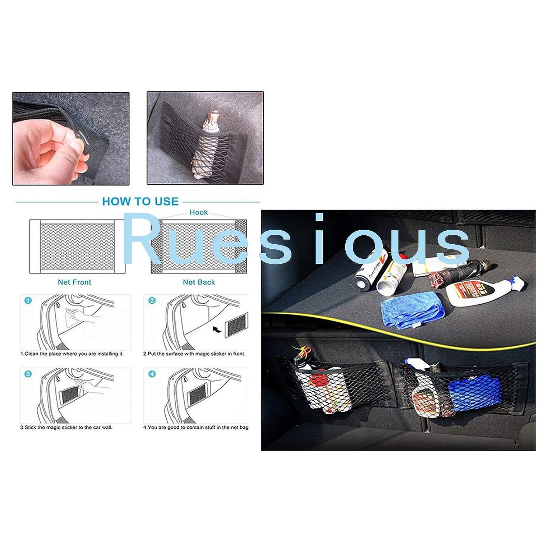 Barrera de seguridad de red para animales dom/ésticos -30 x 25 cm Ruesious 1*Red de barrera coche para perros Paquete de 2 bolsas de red universales para almacenamiento para cochescamiones; bolsa de almacenamiento p Universal Barrera para perros
