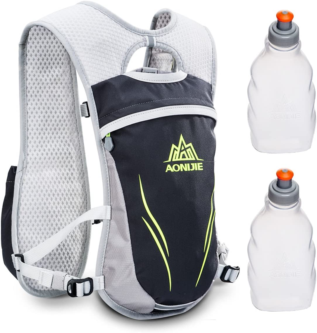 Geila Mochila de hidratación, Chaleco de hidratación al Aire Libre Sport Trail Marathoner Running Race Mochila Ligera para Hombres y Mujeres
