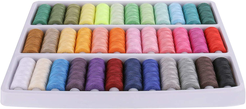 Luxbon - Hilo de coser para máquina de coser a mano o a máquina ...