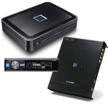 Alpine pdx-v9 5 canales Amplificador con procesador de sonido Alpine pxa-h800 y