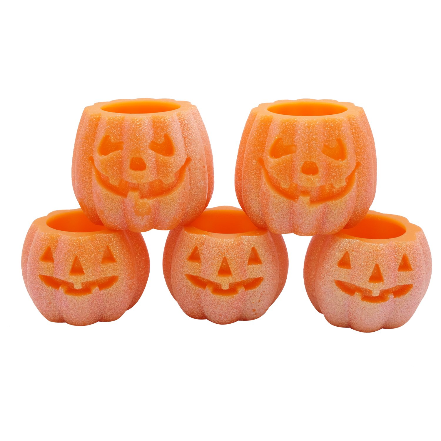 DRomance Flameless Pumpkin LED Candles with 6H Timer Battery Operated Real Wax Candles for Halloween Decoration