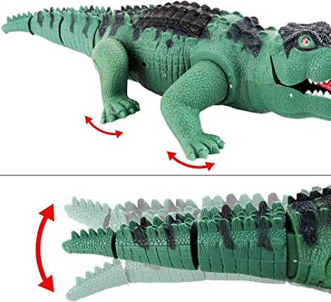 Crocodile Real Movement for Kids Boys Girls Leather/&Arts Electronic Realistic Walking Dinosaur//Crocodile Animal Toys with Roaring Sounds and Lights