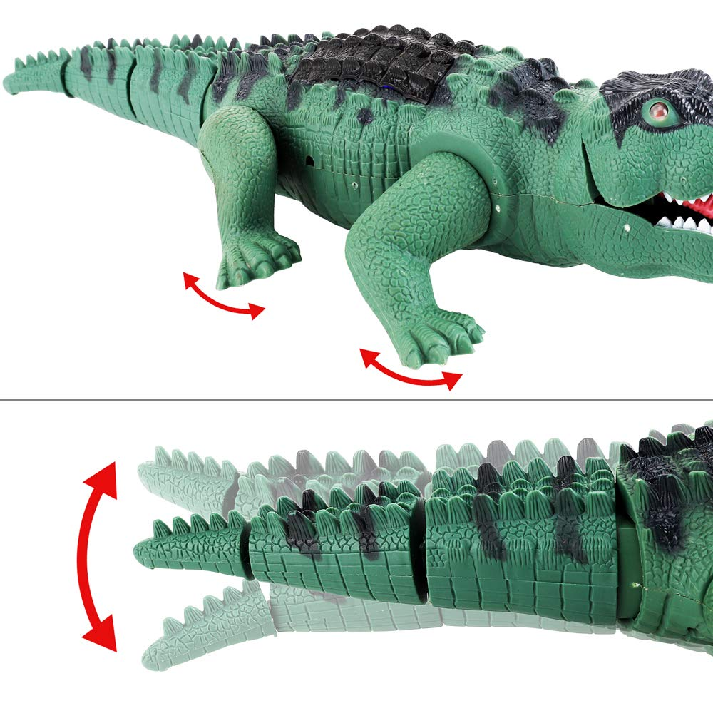 Liberty Imports Crocodile Toy Battery Operated 16'' Alligator with Moving Jaws, Lights and Realistic Sound by Liberty Imports (Image #3)