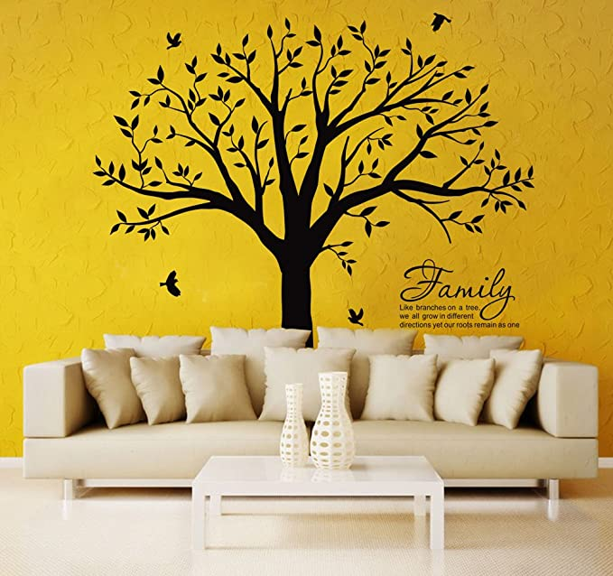 Amazon.com: LSKOO Large Family Tree Wall Decal With Family Llike ...