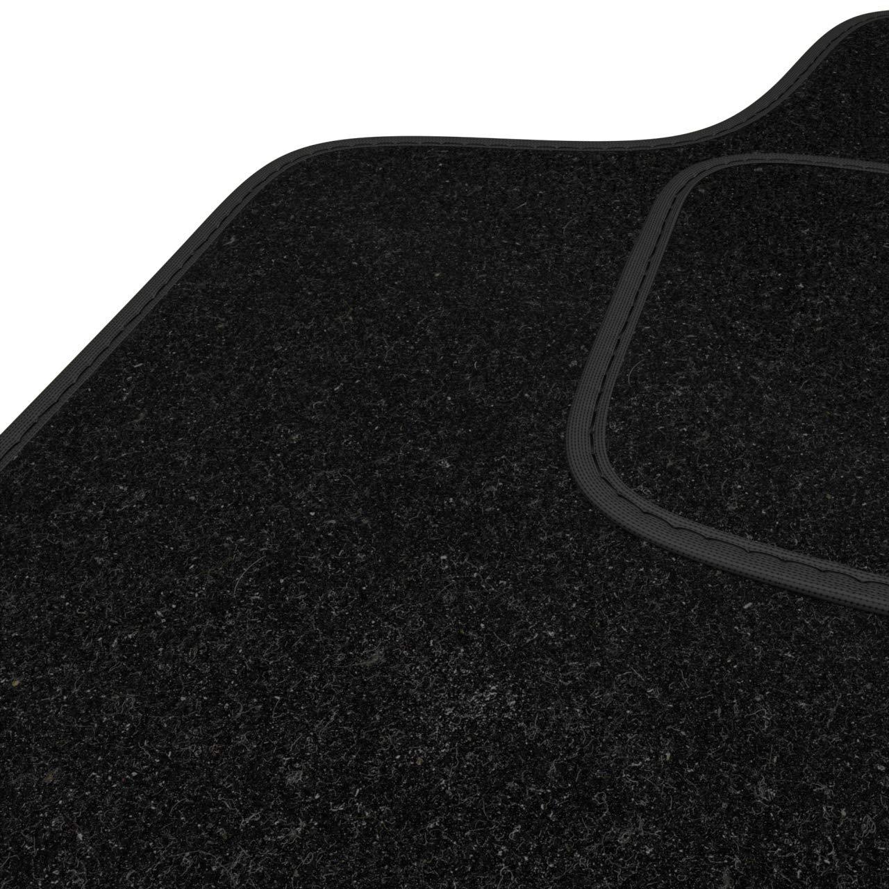 Negro Mossa Alfombrillas de Velour 2 Piezas 5902538853453