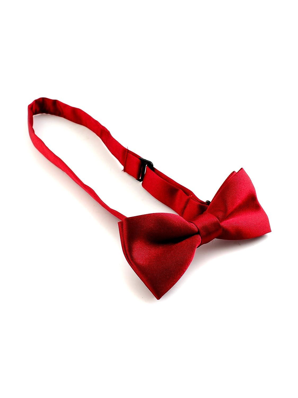 Black Children Boys Kids Pre-Tied Solid Bow Tie Necktie Bowtie for Party Wedding SYMTOP