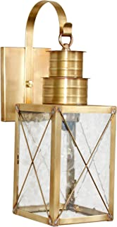 product image for Brass Traditions 221-P SXAB Medium Wall Lantern 200 Series Profile Bracket, Antique Brass Finish 200 Series Profile Bracket Wall Lantern