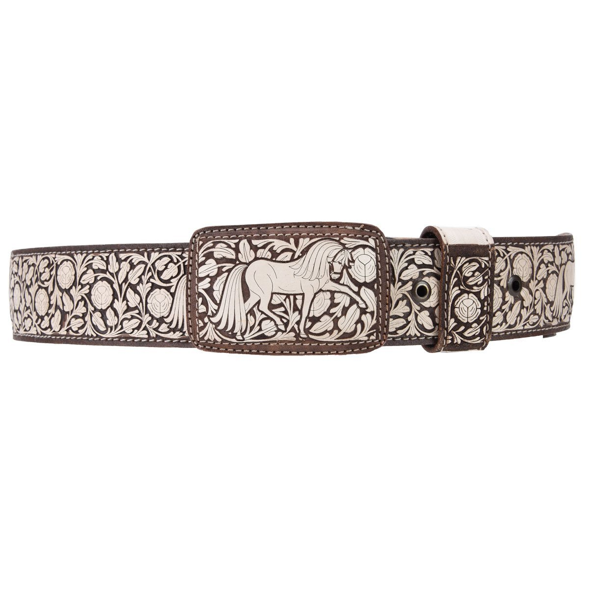 Laser Cut WD-1386 Wide Cowboy Style Belt