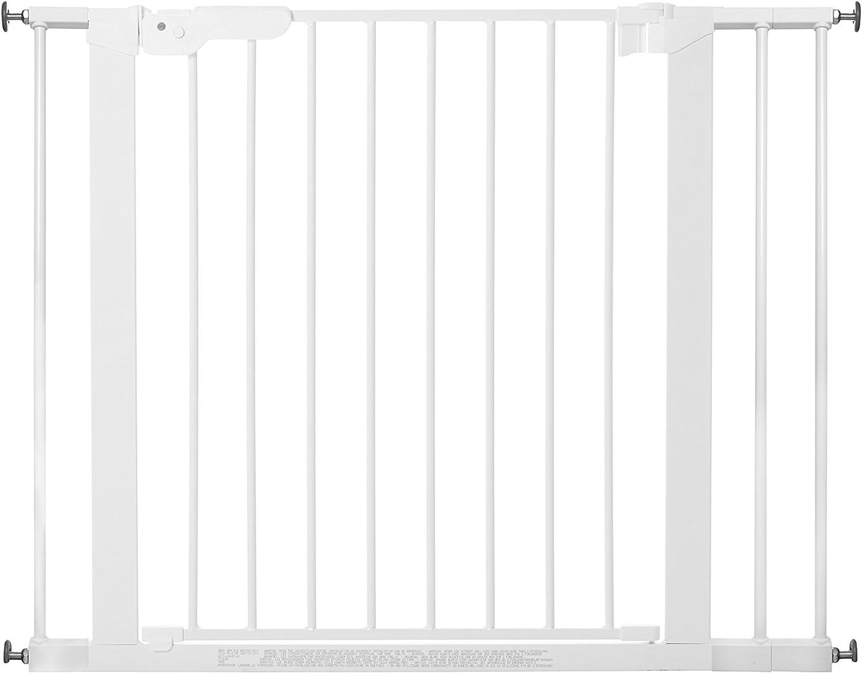 color puerta de escalera para sujetar 73.5-79.6 cm BabyDan Premier rejilla de puerta hecho en Dinamarca y probado por el T/ÜV GS plata